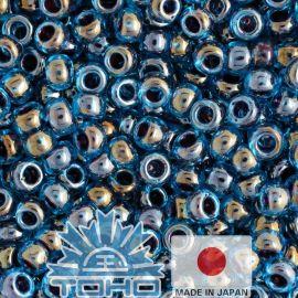 TOHO® Seed Beads Inside-Color Blue Raspberry 11/0 (2.2 mm) 10 g.