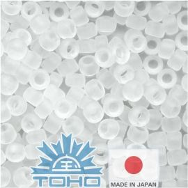 TOHO® Seed Beads Transparent-Frosted Crystal 11/0 (2.2 mm) 10 g.