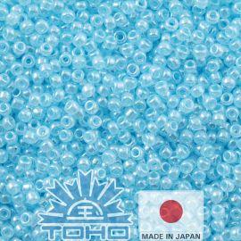 TOHO® Seed Beads Ceylon Aqua 11/0 (2.2 mm) 10 g.