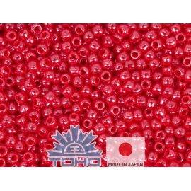 TOHO® Seed Beads Opaque-Lustered Cherry 11/0 (2.2 mm) 10 g.