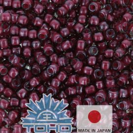 TOHO® Seed Beads Inside-Color Crystal/Berry Wine-Lined 11/0 (2.2 mm) 10 g.