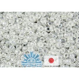 TOHO® Seed Beads Transparent-Lustered Crystal 11/0 (2.2 mm) 10 g.
