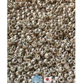 TOHO® Biseris Galvanized Aluminum 11/0 (2,2 mm) 10 g., 1 maišelis rakndarbiams sidabro splavos