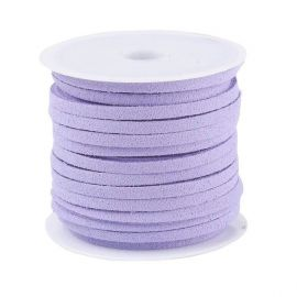 Suede strip ~5 meters, 1 coil for keys light lilac