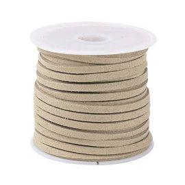 Suede strip ~5 meters, 1 coil for keys light beige