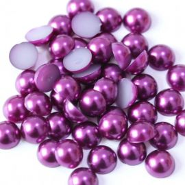 Acrylic cabochon - pearl imitation 11 mm., 10 pcs.