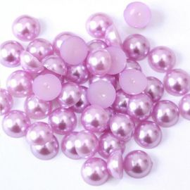 Acrylic cabochon - pearl imitation, lilac colors, handicrafts, decorations, jewelry making and decorating 11 mm, 10 pcs