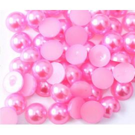 Acrylic cabochon - pearl imitation, pink, handicrafts, decorations, jewelry and decorate 11 mm, 10 pieces.