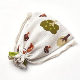 Poliesterio medvilnės dekoratyviai dovanų maišeliai 4 vnt., 1 pakuotė rakndarbiams įviairų raštų