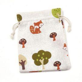Poliesterio medvilnės dekoratyviai dovanų maišeliai 4 vnt., 18x13 cm, 1 pakuotė