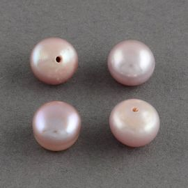 Semi-drilled freshwater pearls, 8-8,5x6 mm, 1 pair