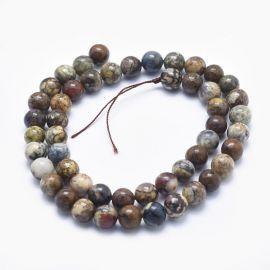 Natural Pietersite beads, 8 mm, 1 strand