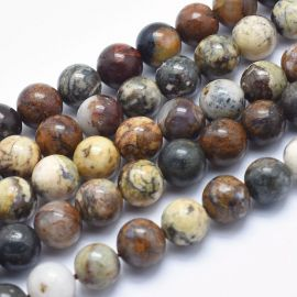 Natural Pietersite beads, 8 mm, 1 strand
