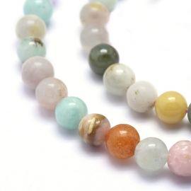 Natural stone beads, 6 mm, 1 strand