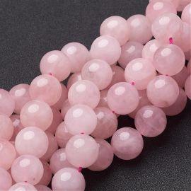 Dabīgas rozā kvarca pērles, 14 mm, 1 dzīsla