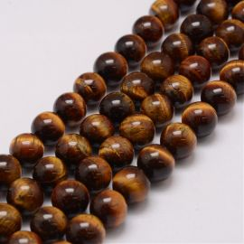 Natural Beads of the Tiger Eye, 20 mm, 1 strand