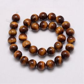 Natural Beads of the Tiger Eye, 16 mm, 1 strand