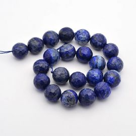 Natural Lapis Lazuli beads, 14 mm, 1 strand
