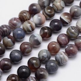 Natural Beads of Botswana Agate necklaces for decorations. Gray-brown-white-black size 14