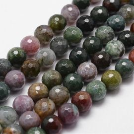 Natural Indian Aat beads, 14 mm, 1 strand