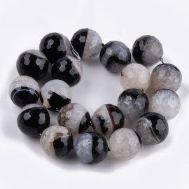 Agate and Quartz beads, 19-20 mm, 1 strand