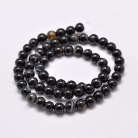 Natural Striped Agate beads, 16 mm, 1 strand
