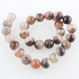 Natural Botswanos Agate beads 2 pcs, 14 mm, 1 bag