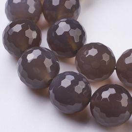 Natural Grey Agate beads 1 pcs, 18 mm