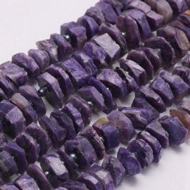 Natural Charoit Beads for Necklace Bracelets Jewelry Light Purple Size 9-18x2-5 mm Disc F