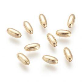 Brass gold-plated 18K insert 4 pcs, 8x4 mm, 1 bag