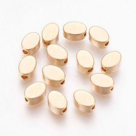 Brass gold-plated insert 4 pcs, 6x4x3 mm, 1 bag