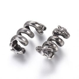 "Stainless steel 304 detail ""Snake"", 21.5x11x12.5 mm, 1 pcs"
