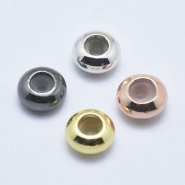 Brass stopper 4 pcs, 7x3.5 mm, 1 bag
