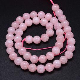 Natural Malagasy Pink Quartz Beads 8 mm 1 strand