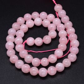 Натуральные малагасийские бусины из розового кварца 8 мм 1 нитка