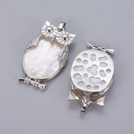 "Natural sink pendant ""Owl"" 43x27x9 mm 1 pcs"