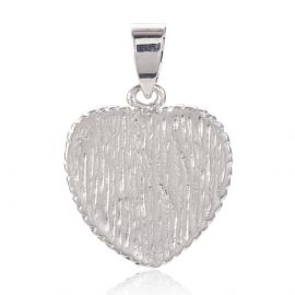 "Natural shell pendant ""Heart"" 24x21x3.5 mm 1 pcs"