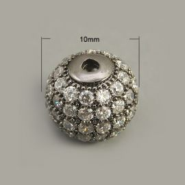 Brass spacer with Zirconium aperture 9.5-10 mm 1 pcs