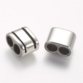 Stainless steel 304 detail for 2-hole bracelet 16x13x9 mm 1 pcs