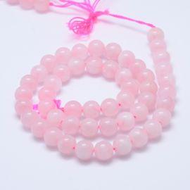 Natural Malagasy Pink Quartz Beads 10 mm 1 strand