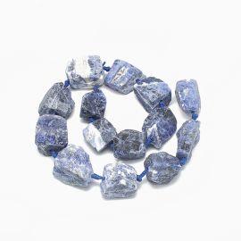 Natural Sodaite nuggets 14-30x15-30 mm 1 strand