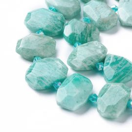 Natural Amazonite beads 17-22x11-18x6-8 mm 1 pcs