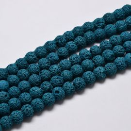 Natural Lava Beads 8 mm 1 thread
