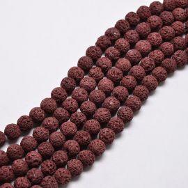 Бусины из натуральной лавы 8 мм 1 нитка