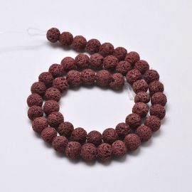Natural Lava Beads 8 mm 1 strand