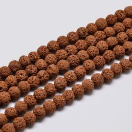 Natural Lava Beads 8 mm 1 strand