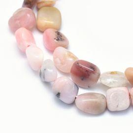 Looduslikud roosad opaalhelmed, 8-14x6-10x4-10 mm, 1 haru