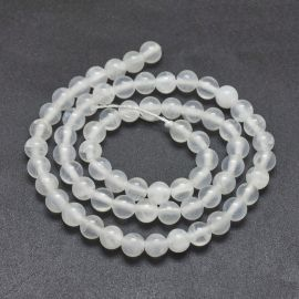Natural Selenium beads, 6 mm, 1 strand