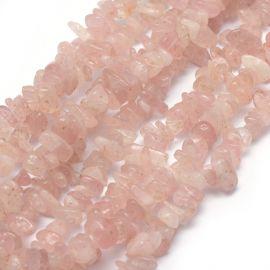 Natūrali Madagaskaro Rožinio kvarco skalda, 5-8 mm, 1 gija