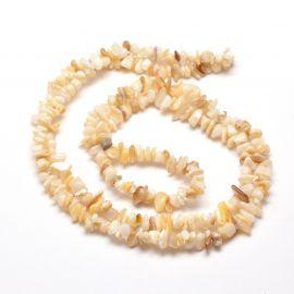 Natūralios SHELL kriauklės skalda, 5-8x5-8 mm, 1 gija